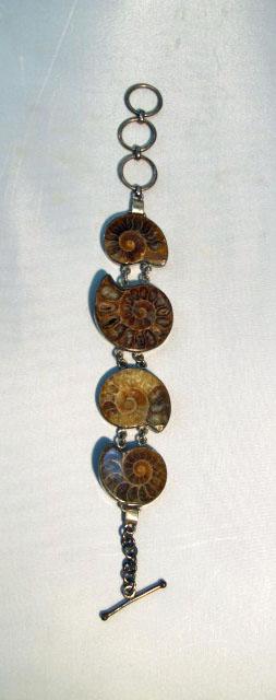 Wearing crystals: ammonite bracelet
