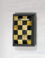 paesina checkered trinket box