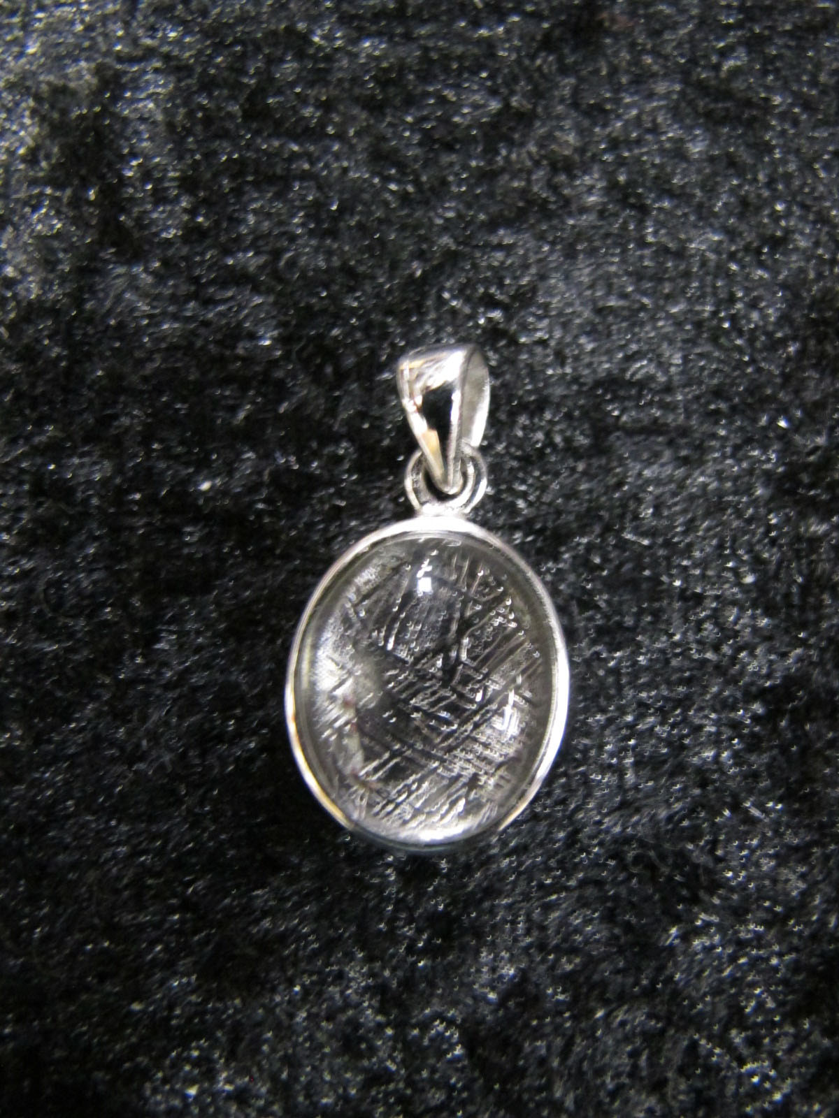 wearing crystals Muonionalusta Meteorite Pendant