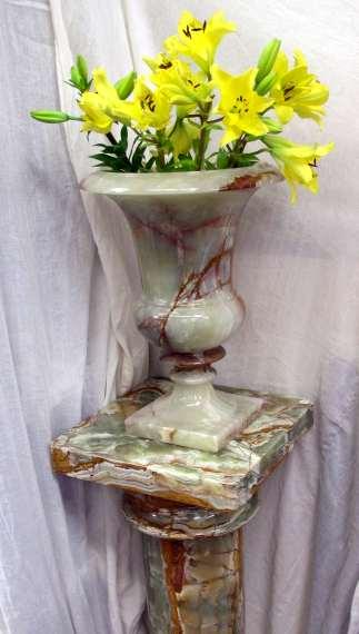 Onyx Vase on Stand