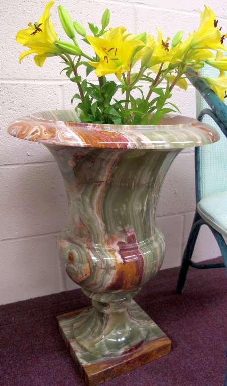 large Onyx vase