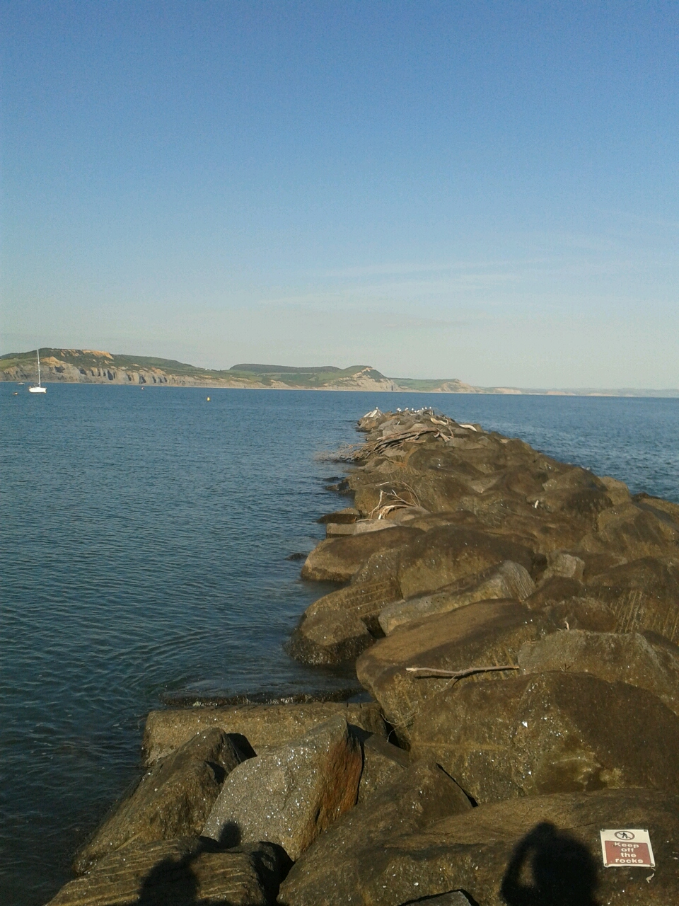 Jurassic Cliffs from the famous Lyme Regis Cobb