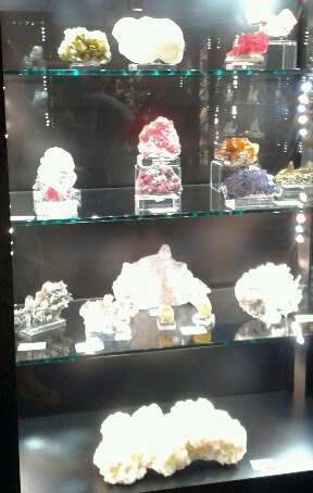 Collector's Guide: minerals in glass cabinet