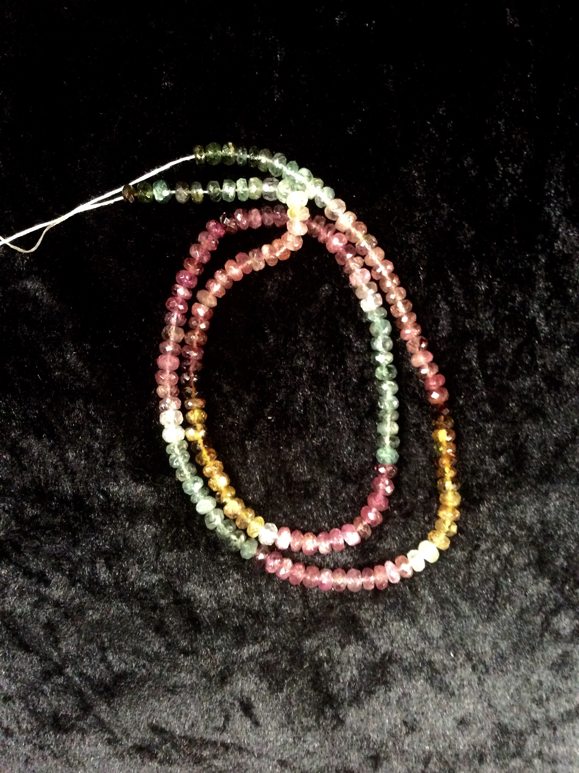 Wearing Crystals: Tourmaline faceted beads