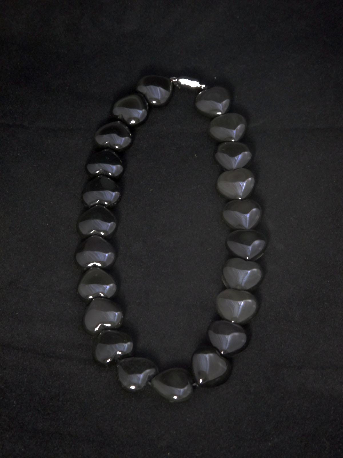 Rainbow Obsidian Heart Necklace