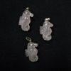 3 rose quartz seahorse charms