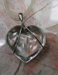 Quartz and Silver Wire Pendant