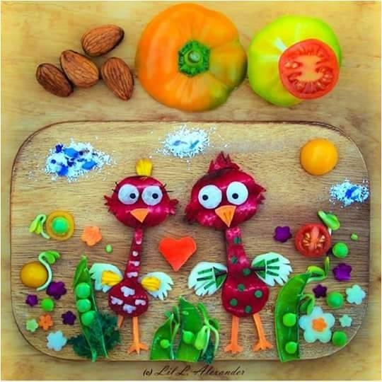 5 easy activities babies and toddlers picture of birds made with food