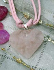 facetted rose quartz Necklace