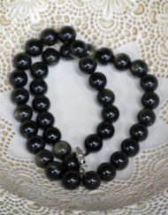 gold sheen obsidian beads