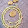 wearing crystals opal necklace