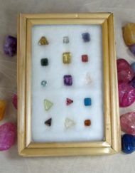 set of faceted gemstones