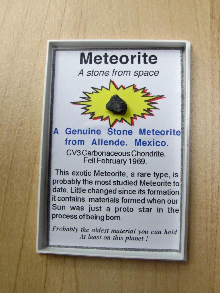 meteorite in a box
