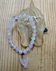 rose quartz and angel bracelet with healing hands