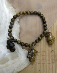 tiger eye seahorse bracelet