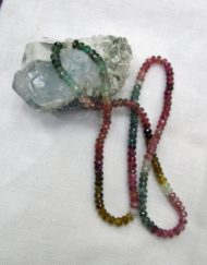 faceted tourmaline beads