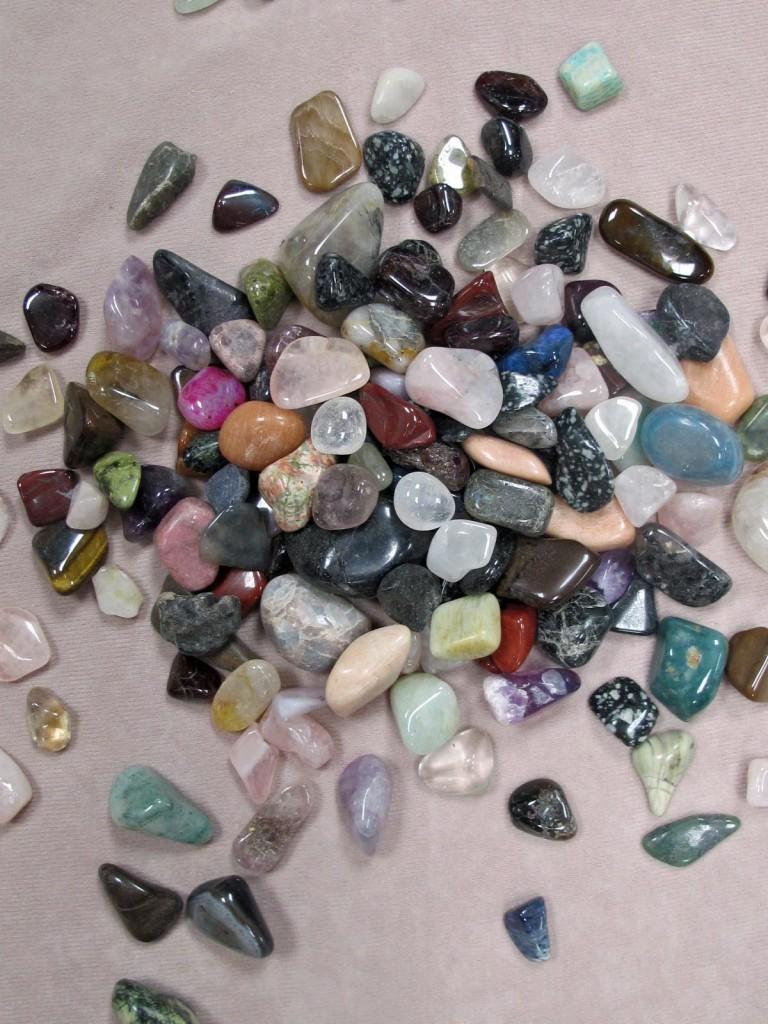 school fete: tumbled stones