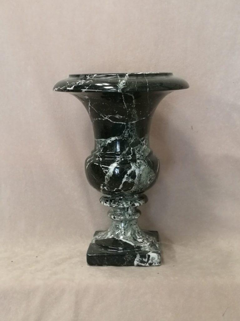 Standing Vase Black Marble