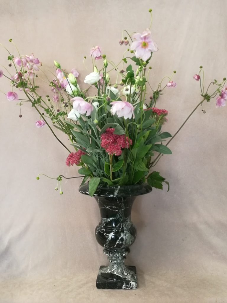 Standing Vase with Flowers