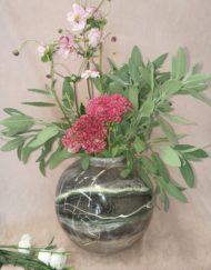 Marble Vase Dark Neutrals