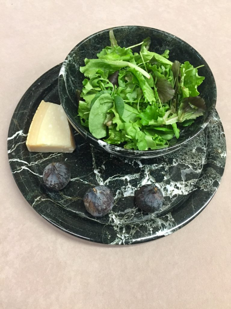 Marble Bowl and Plate Set