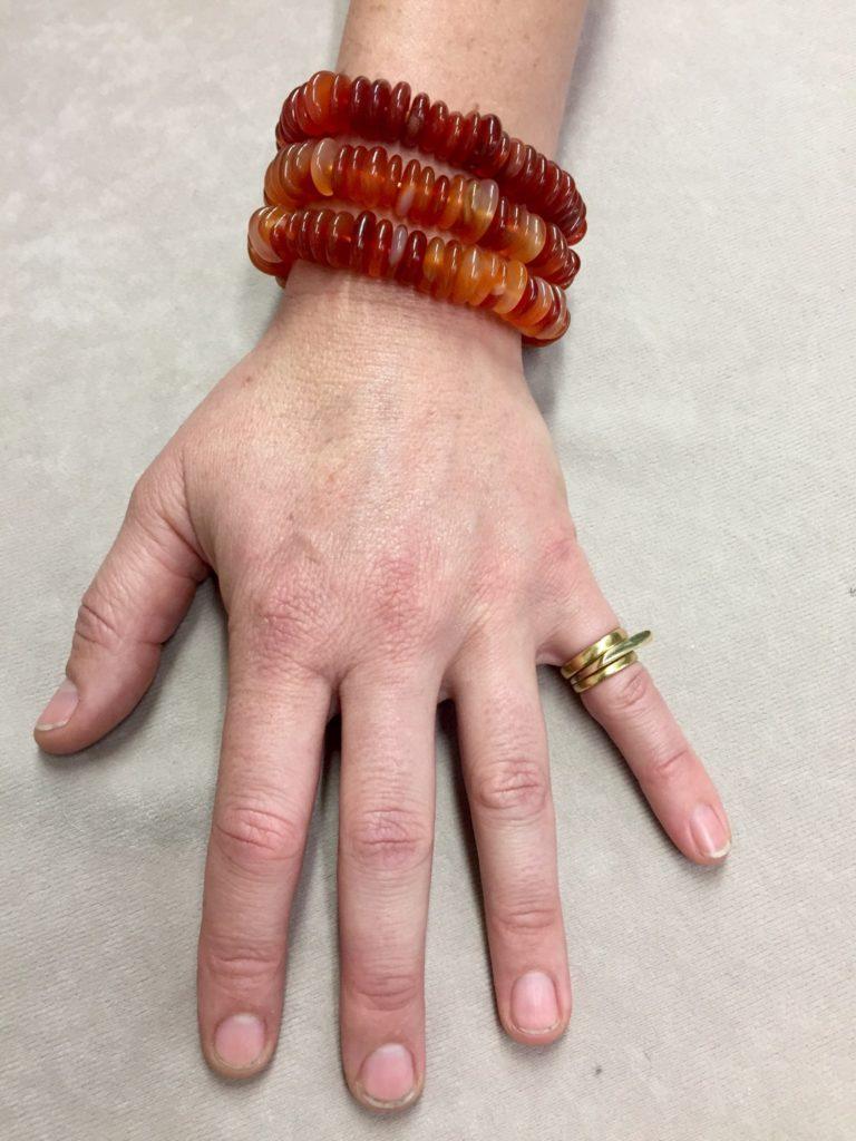Carnelian Bracelet, on hand