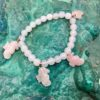 Charm Bracelet,Rose Quartz, Sea Horses