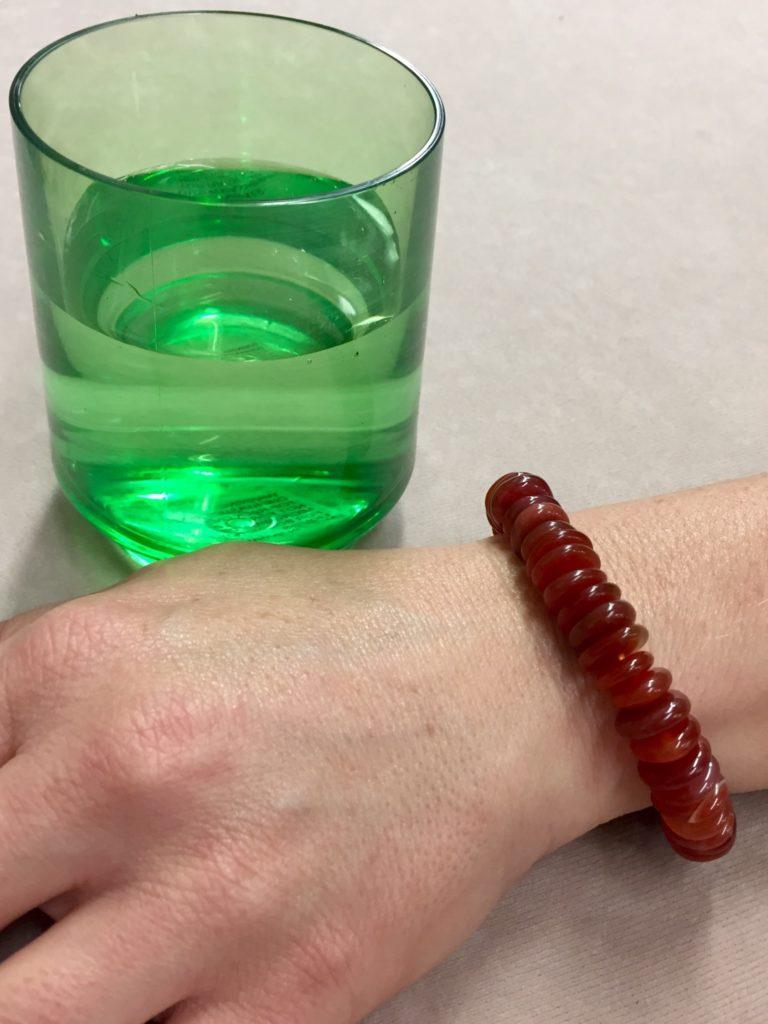 Carnelian Bracelet and water