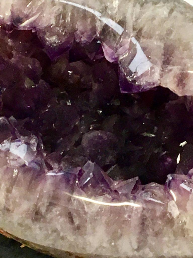 Amethyst Crystal Egg Close Up
