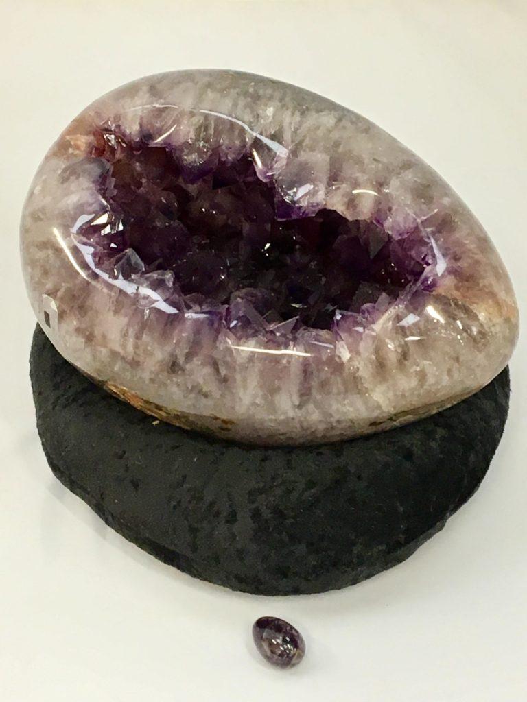 Amethyst Crystal Egg