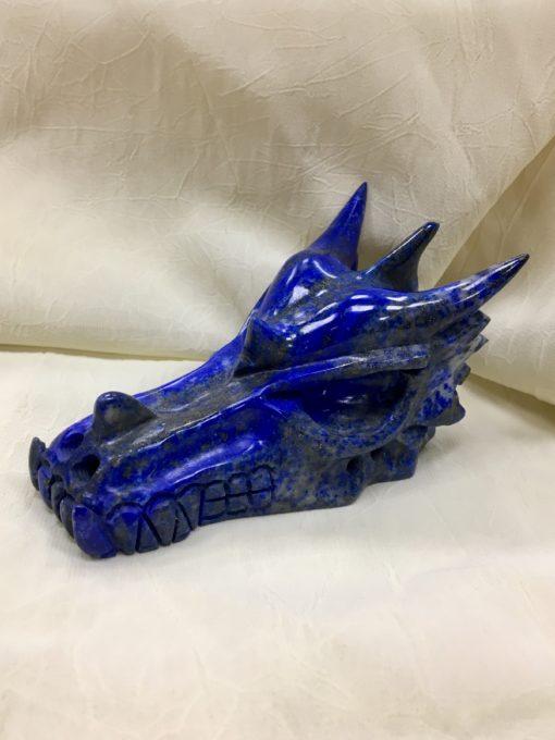 Lapis Lazuli Dragon Skull