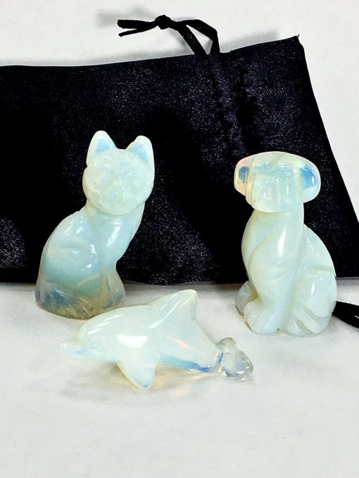 Miniature Opalite Animals Collection