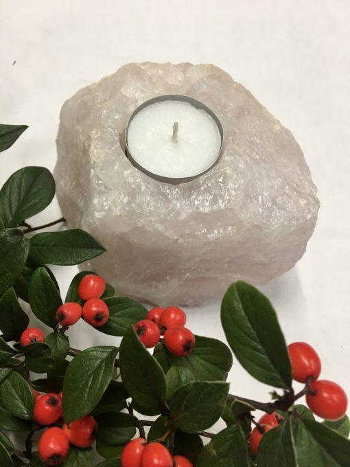 rose quartz tea light