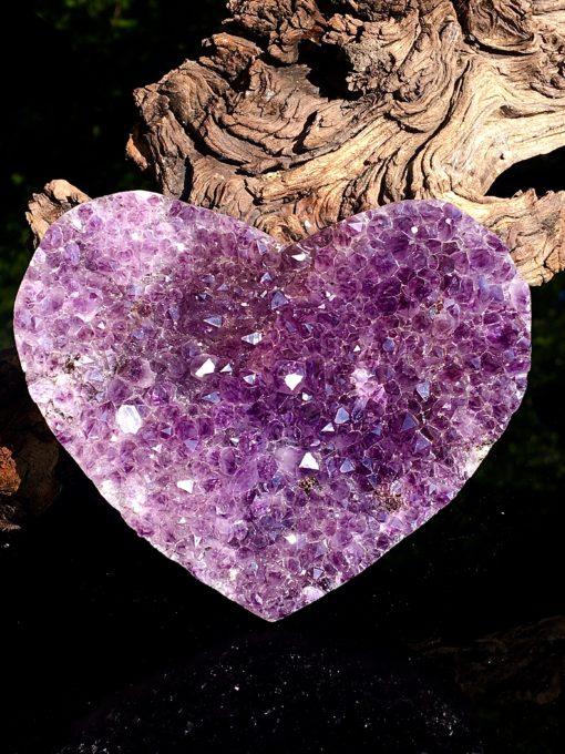 Amethyst Heart Crystal