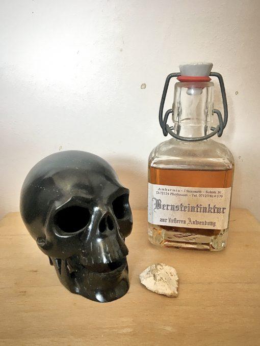 Black Marble Skull