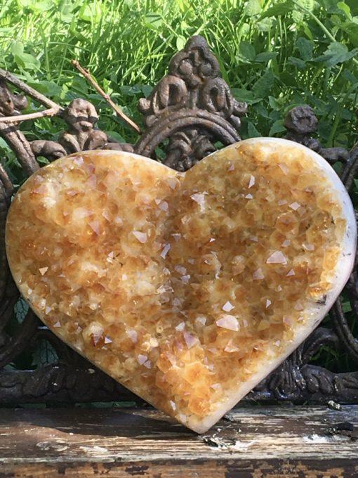 Citrine Crystal Heart