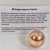 Michigan Native Copper Ball