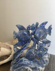 Lapis Lazuli Fish Carving