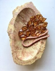 Pink Fossil Wood Bowl