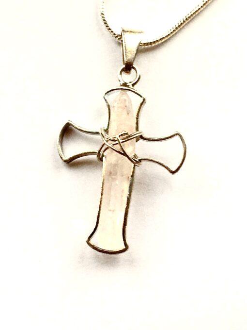 Crystal Crucifix Pendant