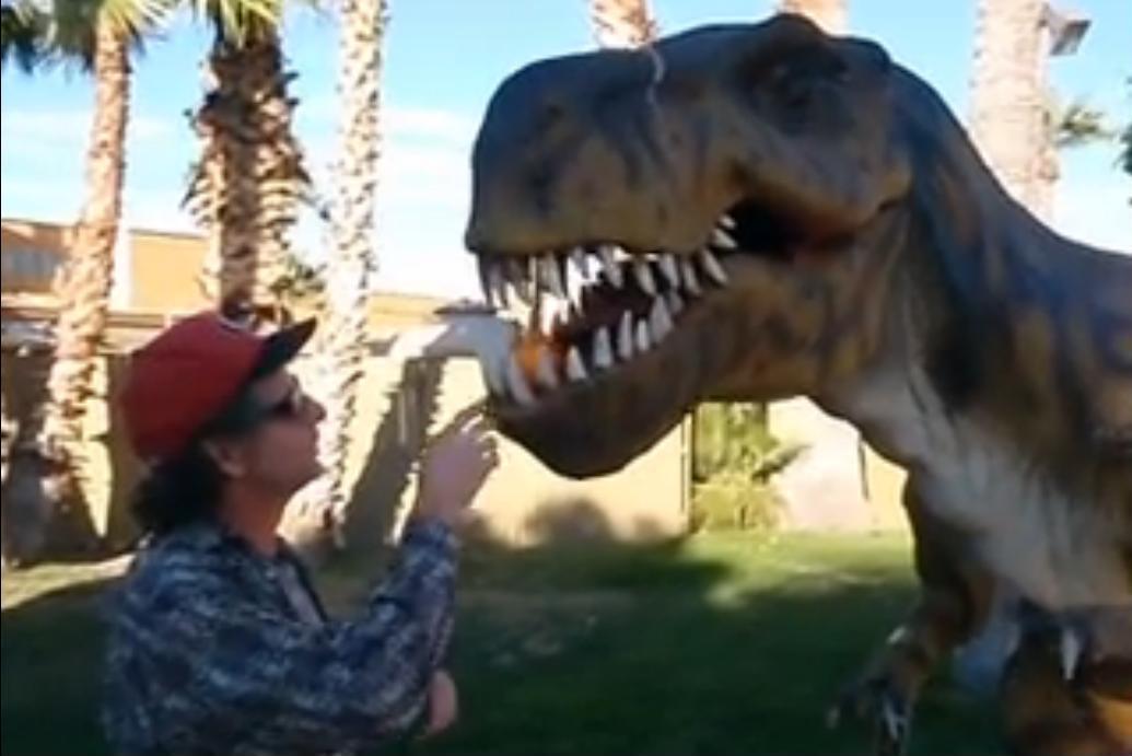 Dinosaur Eating an Orange?