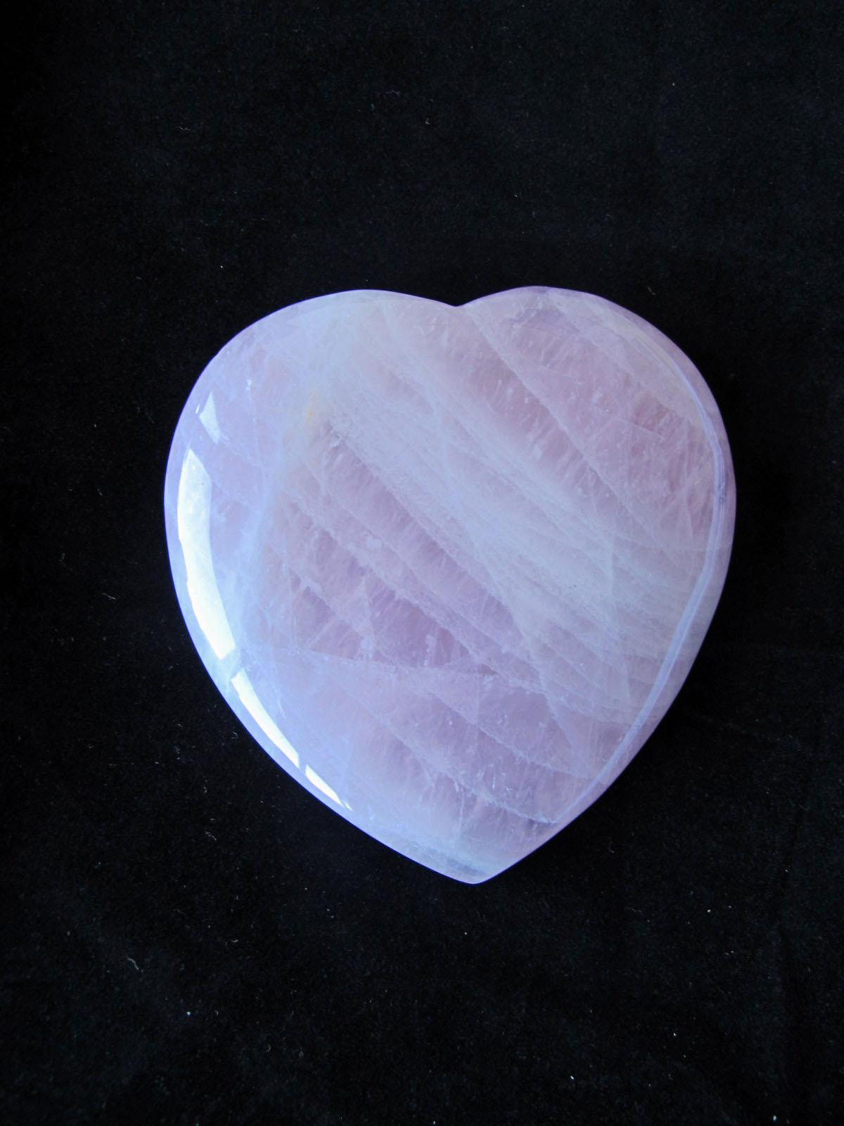 Valentines day Rose Quartz Heart