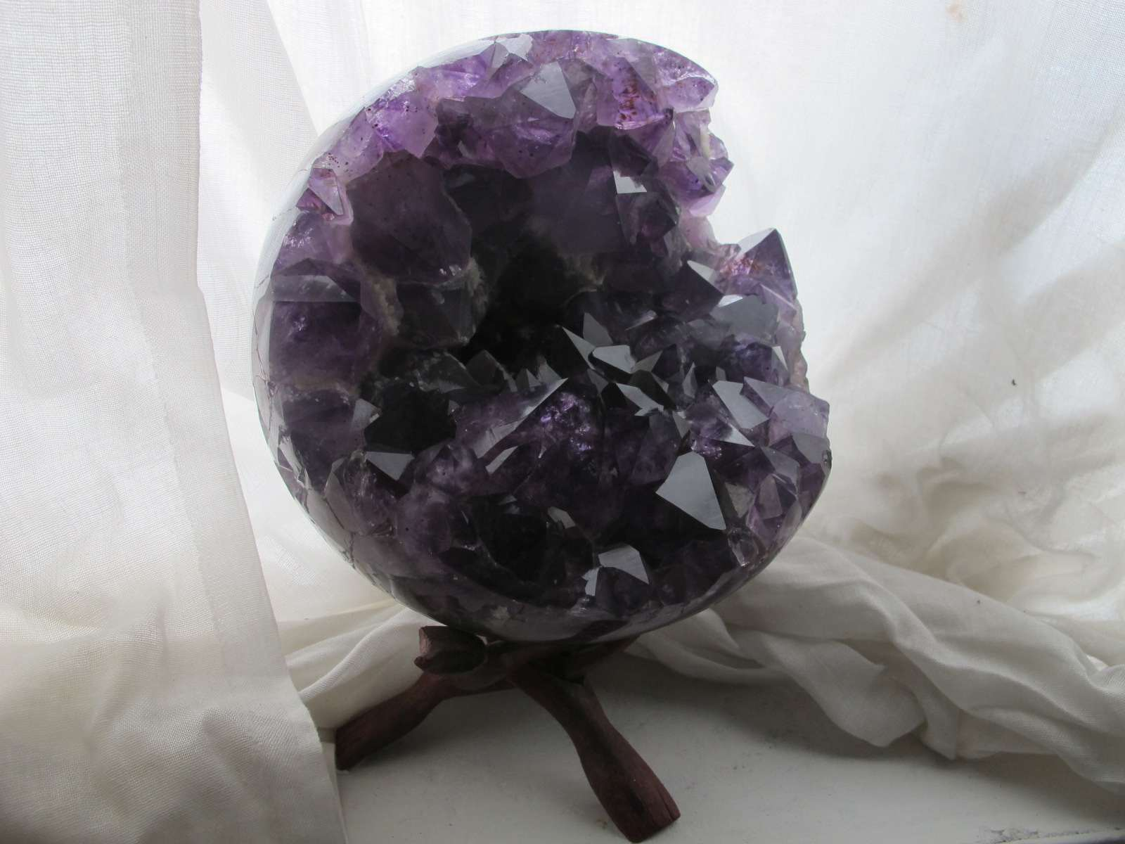 Amethyst Open Crystal Sphere