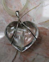 Quartz and Silver Wire Pendant