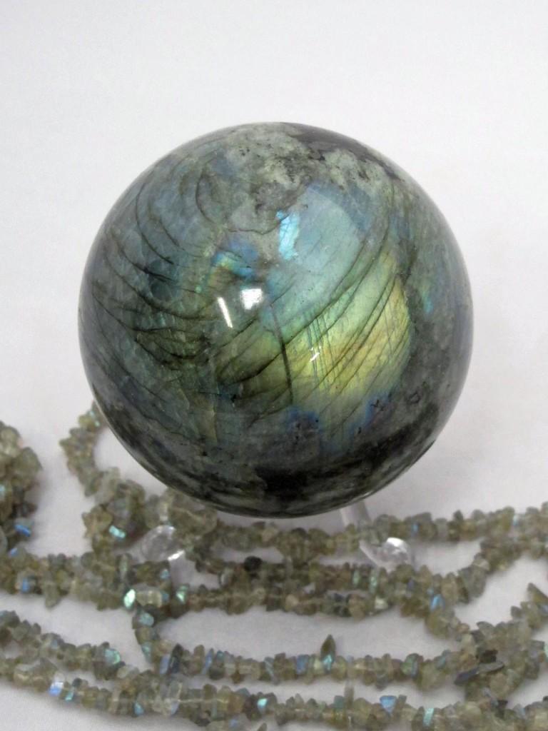 gemstone labradorite sphere
