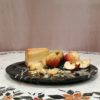 Marble plate with apples