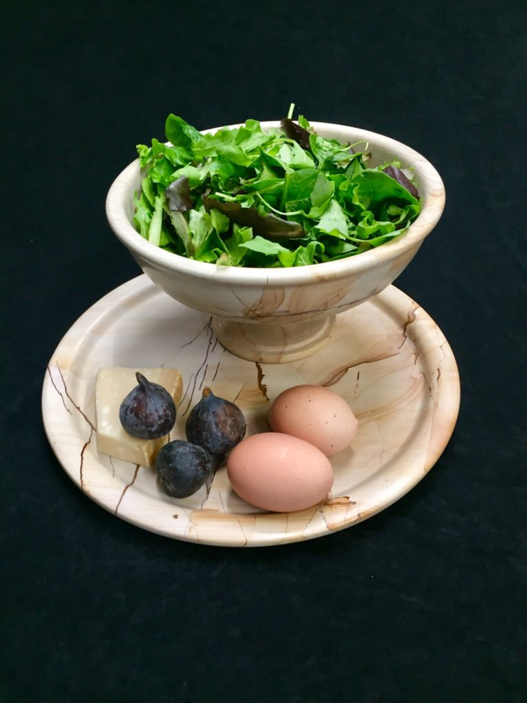 Marble Bowl and Plate, Tableware Set