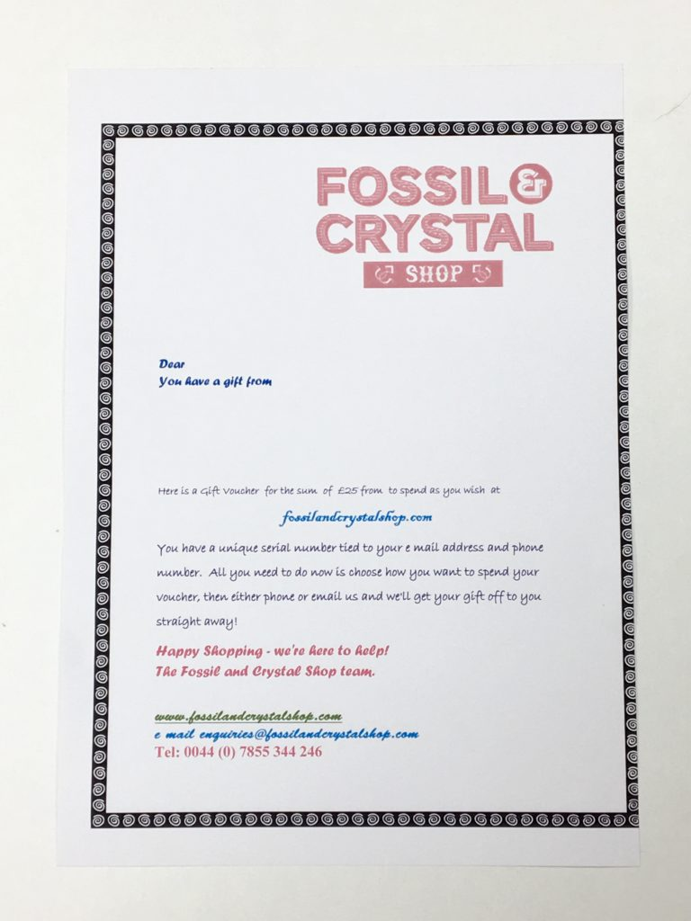 Fossil Crystal Gift Voucher