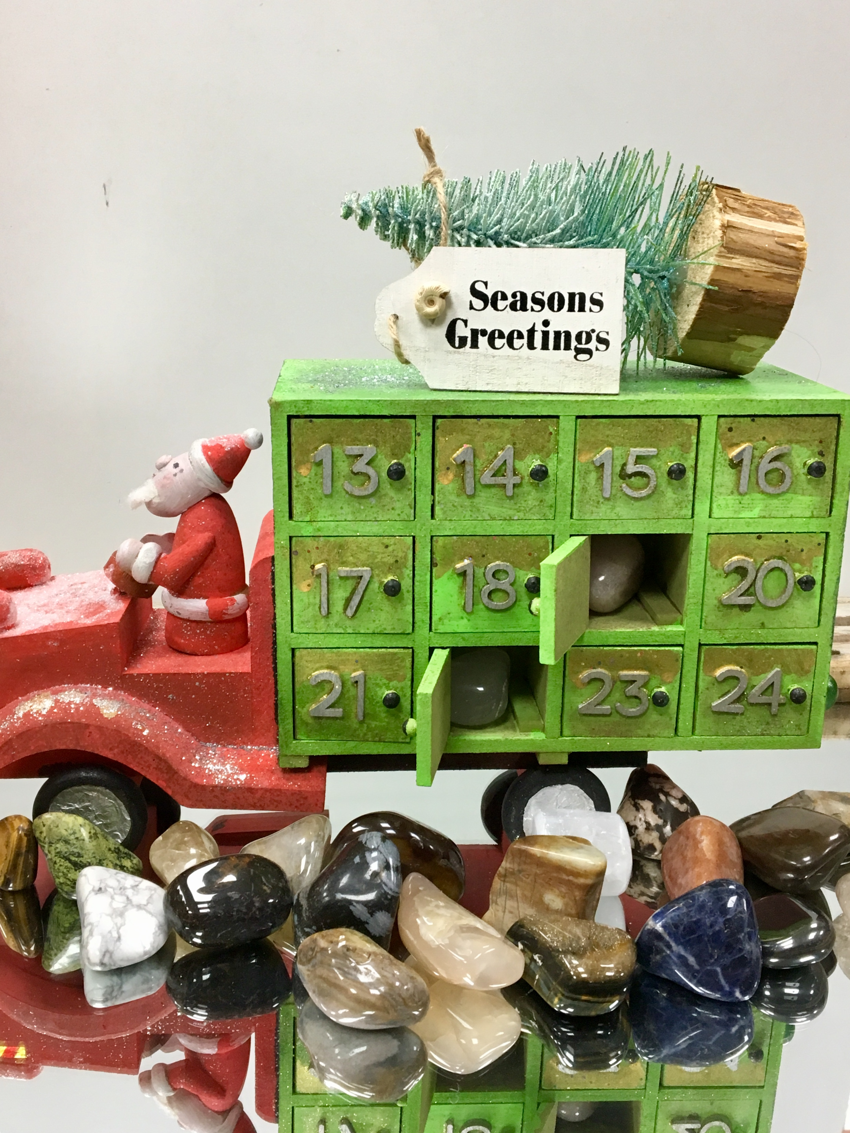 Gemstone advent Calendar Santa Truck