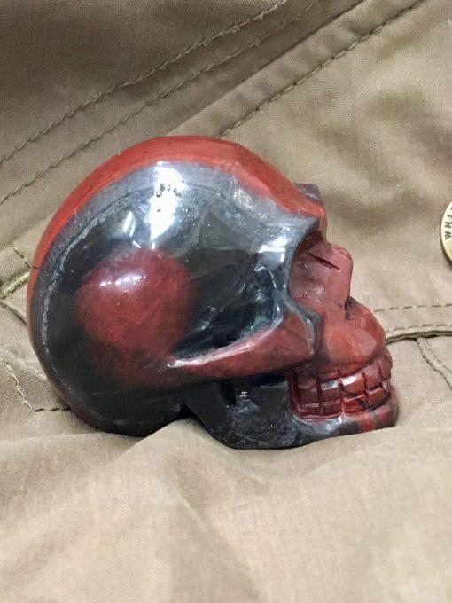 Ancestralite Skull for holding side view